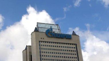 Gazprom Headquarters in Moscow — Stock Video