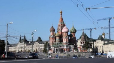 St Basil's Cathedral in Moscow — Vídeo Stock