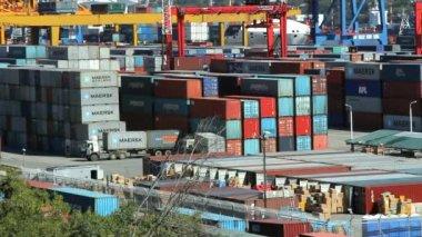 Vladivostok sea trading port — Stock Video