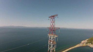 High voltage tower — Stok video