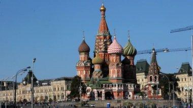 Plac czerwony i st. katedra bazylia — Wideo stockowe