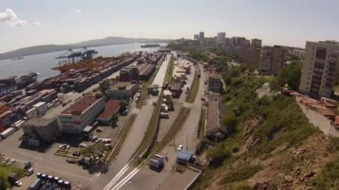 Vladivostok Commercial Port — Stock Video