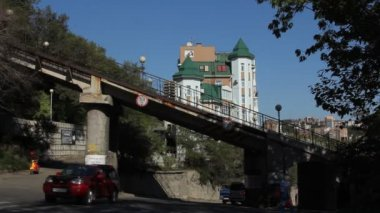 Funicular in Vladivostok — Stock Video