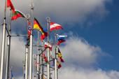 Group og Europeans flag — Stock Photo