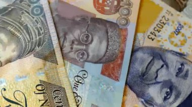 Nigerian banknotes rotation — Stock Video