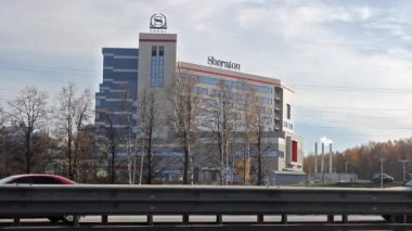 New Sheraton hotel in Moscow — Stock Video