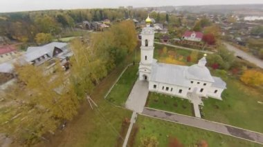 Flying over Ortodox Church, Russia — Stock video