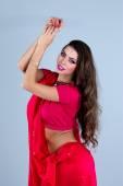 Indian girl dancing — Stock Photo