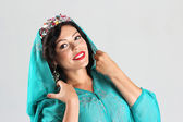 Adult woman in arabian dress — Stock Photo