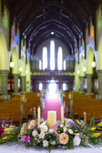 Wedding set up in Church. Ireland — Stock Photo