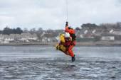 Coast Guard crew water rescue training — Stock Photo