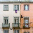 Old ancient house exterior with balcony — Stock Photo #55124729