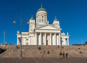 HELSINKI, FINLAND - OCTOBER 18, 2014: Helsinki Cathedral , the Finnish Evangelical Lutheran cathedral of the Diocese of Helsinki, Finland. It was also known as St Nicholas' Church until 1917 — Stock Photo