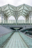 LISBON, PORTUGAL - APRIL 1, 2013:  Oriente Train Station. This Station was designed by Santiago Calatrava for the Expo '98 world's fair. — Stock Photo