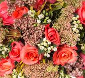 多色玫瑰花束 — 图库照片