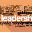 Leadership concept in word collage — Stock Vector #64976897