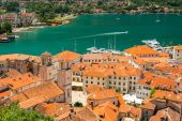 Vista baía e antiga cidade de kotor, montenegro — Fotografia Stock
