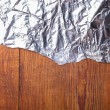 Wood texture with foil — Stock Photo #67617283