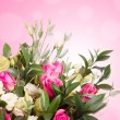 Bridal bouquet from white and pink flowers — Stock Photo #69646145