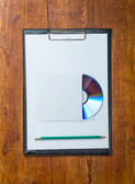 Compact disk on a table. Template for branding identity for designers. — Stock Photo