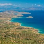 View of beautiful Myrtos bay and idyllic beach on Kefalonia island, Greece — Stock Photo #70244025