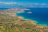View of beautiful Myrtos bay and idyllic beach on Kefalonia island, Greece — Stock Photo