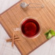 Cup of tea with cinnamon and mint — Stock Photo #73340715