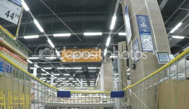 MOSCOW JUN 2015: Lenta supermarket. Shopping timelapse — Stok video