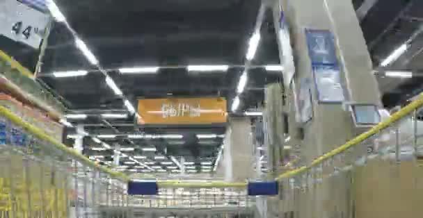 Moscou juin 2015 : lenta supermarché. timelapse commerçante — Vidéo
