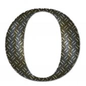 Metal alphabet symbol - O — Stock Photo