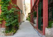 Cobblestone road in small old Europe town. — Stock Photo