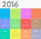 Circle calendar for 2016 year. — Stock Vector