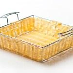 Wicker basket  on a white background — Stock Photo #81708270