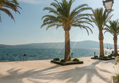 Promenade de porto Montenegro. Destination touristique populaire — Photo