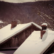 Roofs of houses under snow — Stock Photo #53852267