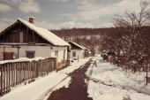 Village in the mountains — Stock fotografie