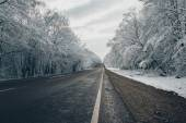 A snowy road — Stock Photo