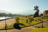 City landscape. Vladikavkaz, Ossetia — Stock Photo