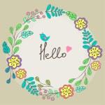 Cute floral circle ornament — Stock Vector #52441563