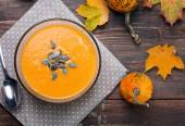 Autumn pumpkin soup — Stock Photo