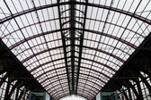 Roof of the Antwerpen railway station — Stock Photo