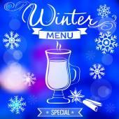 Winter menu template — Stockvector