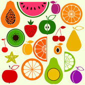 Colorful fruits in simple style — Wektor stockowy