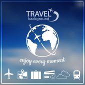 Travel background — Cтоковый вектор