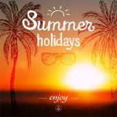 Summer vacation poster  — Stock Vector
