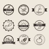 Set of nine simple style labels — Stock Vector