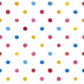 Watercolor dot seamless pattern — Stock Vector