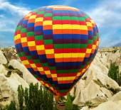 Ballooning fly over Cappadocia — Stock Photo