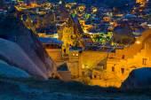 Landscape on GOREME Cappadocia Turkey. — Stock Photo