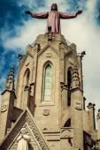 Church Sacred Heart.Tibidabo. Barcelona. — Stock Photo
